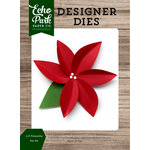 Echo Park - Christmas Cheer Collection - Designer Dies - 3D Poinsettia