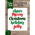 Echo Park - Christmas Cheer Collection - Designer Dies - Holiday Cheer Word