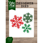 Echo Park - Christmas Cheer Collection - Designer Dies - Shimmering Snowflakes