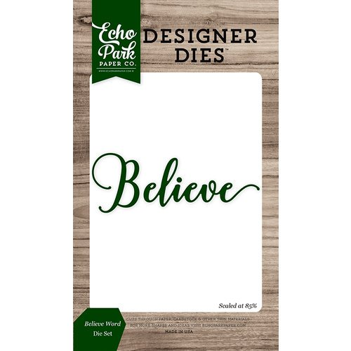 Echo Park - Christmas Cheer Collection - Designer Dies - Believe Word