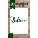 Echo Park - Christmas Cheer Collection - Designer Dies - Believe Word