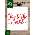 Echo Park - Christmas Cheer Collection - Designer Dies - Joy To The World Word