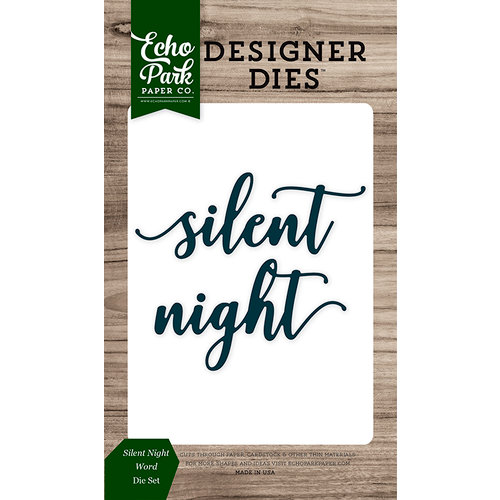 Echo Park - Christmas Cheer Collection - Designer Dies - Silent Night Word
