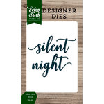 Echo Park - Christmas Cheer Collection - Designer Dies - Silent Night Word