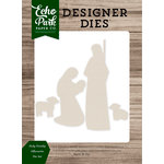 Echo Park - Christmas Cheer Collection - Designer Dies - Holy Family Silhouette