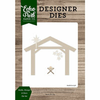 Echo Park - Christmas Cheer Collection - Designer Dies - Stable, Manger and Stars