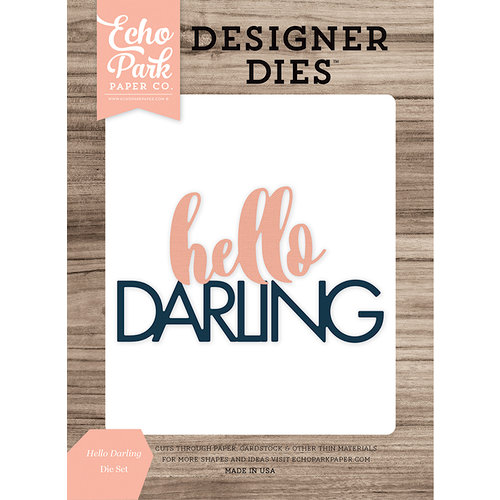 Echo Park - Designer Dies - Hello Darling Word