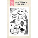 Echo Park - Halloween - Clear Acrylic Stamps - Haunted Night