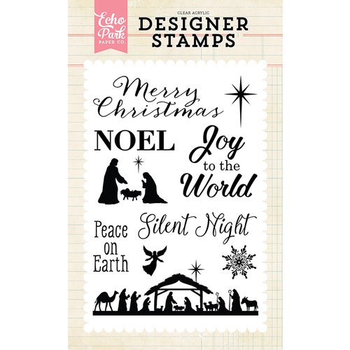 Echo Park - Christmas - Clear Photopolymer Stamps - Silent Night