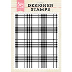 Echo Park - Clear Acrylic Stamps - Perfect Plaid A2