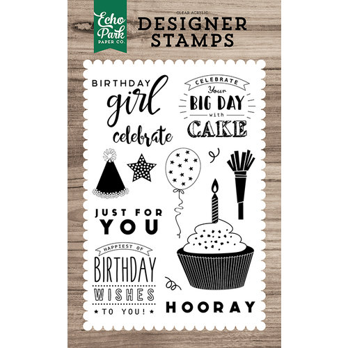 Echo Park - Clear Photopolymer Stamps - Birthday Wishes