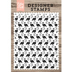 Echo Park - Clear Photopolymer Stamps - Flamingos A2 Background
