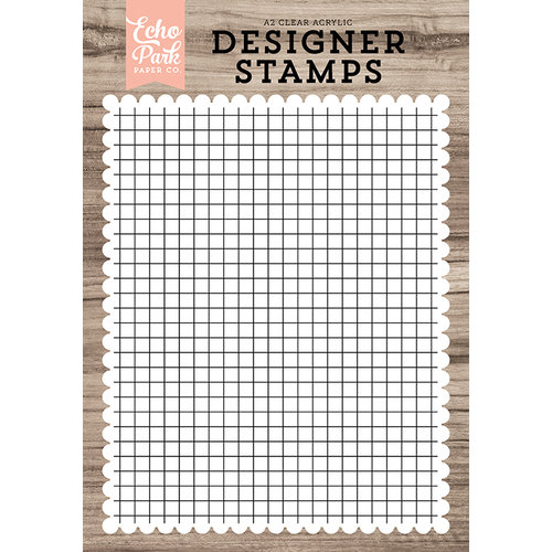 Echo Park - Clear Photopolymer Stamps - Grid A2 Background