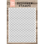 Echo Park - Clear Acrylic Stamps - Polka Dot A2 Background