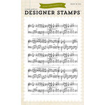 Echo Park - Clear Acrylic Stamps - Musical Notes Background