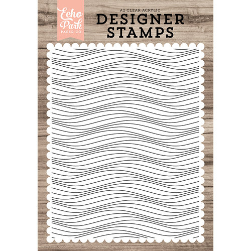 Echo Park - Clear Acrylic Stamps - Make Waves A2 Background