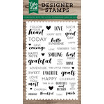Echo Park - Clear Acrylic Stamps - Loving Expressions