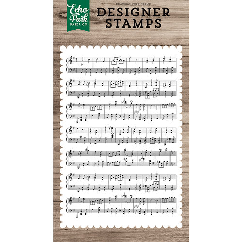 Echo Park - Clear Photopolymer Stamps - Sheet Music