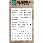 Echo Park - Clear Acrylic Stamps - Calendar Essentials