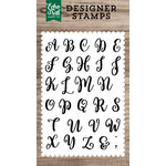 Echo Park - Clear Acrylic Stamps - Avery Uppercase