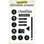 Echo Park - Creative Agenda Collection - Clear Acrylic Stamps - Creative Day