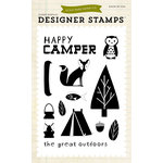 Echo Park - Summer Collection - Designer Stamps - Happy Camper