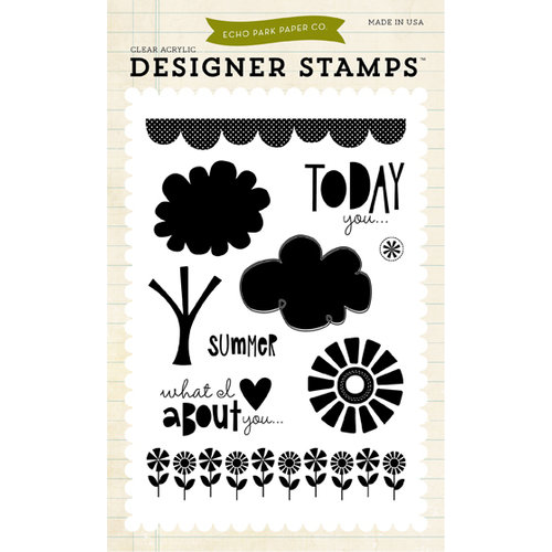 Echo Park - Summer Collection - Photopolymer Stamps - Sweet Summertime