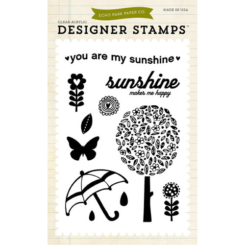 Echo Park - Spring Collection - Designer Stamps - You are my Sunshine