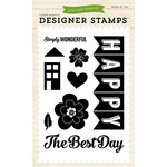 Echo Park - We Are Family Collection - Clear Acrylic Stamps - Happy Family