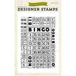 Echo Park - Everyday Collection - Photopolymer Stamps - Bingo Cards