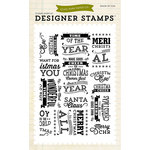 Echo Park - Christmas - Clear Acrylic Stamps - Christmas Subway Art