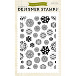 Echo Park - Winter - Clear Acrylic Stamps - Snowflakes 2