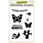 Echo Park - Fine and Dandy Collection - Clear Photopolymer Stamps - Happy Little Moments