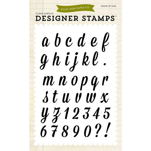 Echo Park - Sentiments - Clear Acrylic Stamps - Charlotte Alphabet