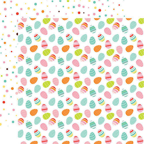 Echo Park - Easter Wishes Collection - 12 x 12 Double Sided Paper - Egg Hunt