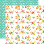 Echo Park - Easter Wishes Collection - 12 x 12 Double Sided Paper - Easter Flowers