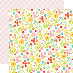 Echo Park - Easter Wishes Collection - 12 x 12 Double Sided Paper - Floral Fun