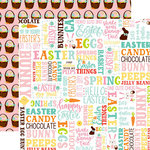 Echo Park - Easter Wishes Collection - 12 x 12 Double Sided Paper - Hello Easter