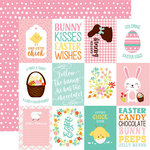 Echo Park - Easter Wishes Collection - 12 x 12 Double Sided Paper - 3 x 4 Journaling Cards