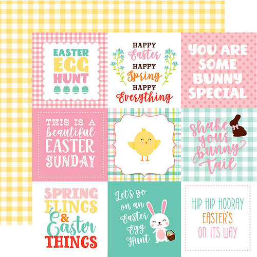 Echo Park - Easter Wishes Collection - 12 x 12 Double Sided Paper - 4 x 4 Journaling Cards