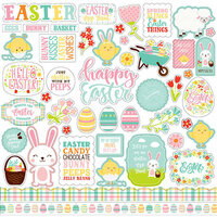 Echo Park - Easter Wishes Collection - 12 x 12 Cardstock Stickers - Elements