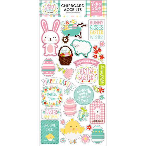 Echo Park - Easter Wishes Collection - Chipboard Stickers - Accents