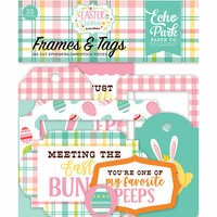 Echo Park - Easter Wishes Collection - Ephemera - Frames and Tags