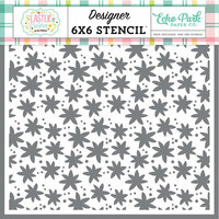 Echo Park - Easter Wishes Collection - 6 x 6 Stencil - Easter Floral