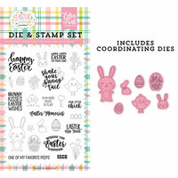 Echo Park - Easter Wishes Collection - Designer Dies and Clear Photopolymer Stamp Set - Easter Memories