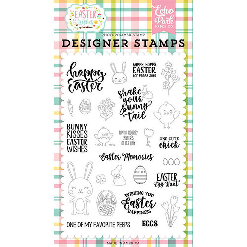 Echo Park - Easter Wishes Collection - Clear Photopolymer Stamps - Easter Memories