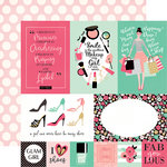 Echo Park - Fashionista Collection - 12 x 12 Double Sided Paper - Multi Journaling Cards