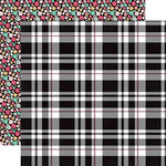 Echo Park - Fashionista Collection - 12 x 12 Double Sided Paper - Playful Plaid