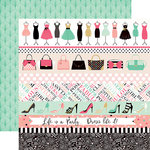Echo Park - Fashionista Collection - 12 x 12 Double Sided Paper - Border Strips
