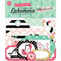 Echo Park - Fashionista Collection - Ephemera - Frames and Tags